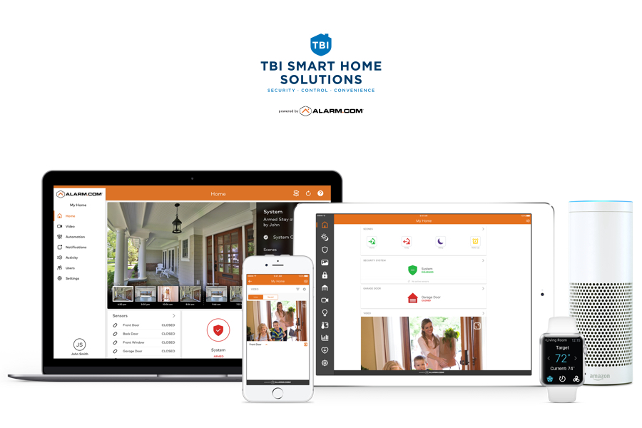 TBI Smart Home Solutions alarm.com apps